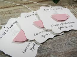 bridal tea party favors bridal shower favor tags is brewing wedding favor tags
