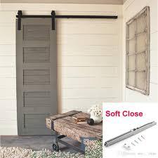 2017 single 5ft american country style barn wood door hardware kit