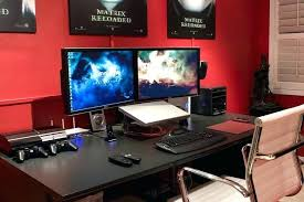 best desk for dual monitors computer desks for multiple monitors multi monitor best desk two