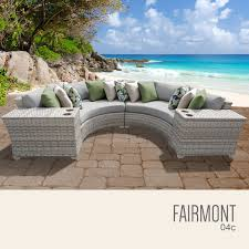 Patio Furniture Set by Tk Classics Fairmont 4 Piece Outdoor Wicker Patio Furniture Set 04c