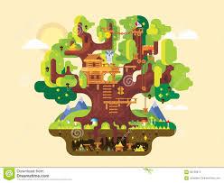 fabulous tree house stock vector image 58759973