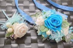 Turquoise Corsage Wrist Corsage Wc14 Turquoise U0026 Panna Cotta U2013 Endura Flora