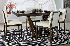 couture elegance pedestal counter dining set w white chairs couture elegance pedestal counter dining set w white chairs