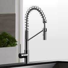kitchen stainless steel kitchen faucet with pull down spray