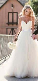 spaghetti wedding dress simple spaghetti straps layers tulle gown wedding dress