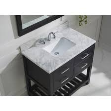 Marble Top For Bathroom Vanity Carrera Marble Vanity Wayfair