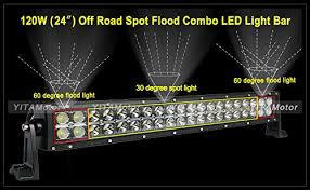 24 inch led light bar offroad yitamotor 2 x 120w 24 inch spot flood combo led light bar car 4wd