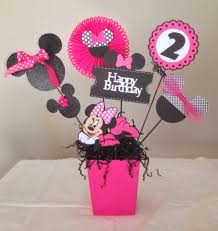 Minnie Mouse Happy Birthday Centerpieces Minnie Mouse