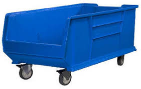 Large Clear Storage Containers - plastic storage bins accommodate casters for mobility