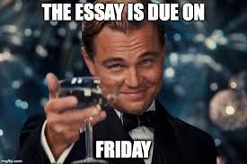 Essay Memes - leonardo dicaprio cheers meme imgflip