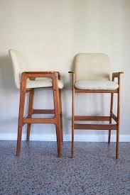 danish bar stools pair of danish modern teak bar stools two pair available vintage