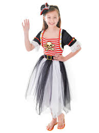 girls pirate caribbean princess fancy dress party costume child