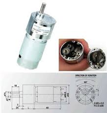 Jual Dc Gear Motor motor dc robot dc motor 12v torsi 9 kg rpm 322 dc dengan gearbox