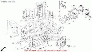 honda xl600r 1985 f usa cylinder head schematic partsfiche