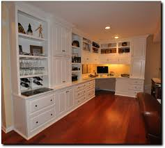 Built In Bookcase Ideas A Builtin Desk With Bookcase Amusing Built In Home Office Designs