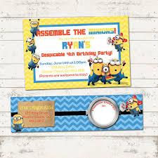 template elegant free printable minion invitations with photo