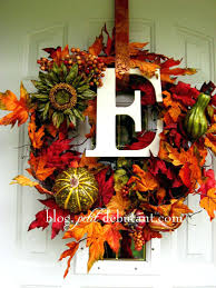 autumn wreath blessings fall door decoration front christmas