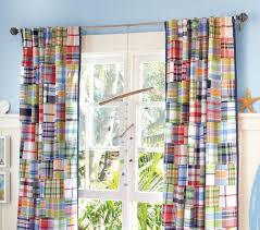 cool blue plaid curtains and blue cotton curtains with plaid style