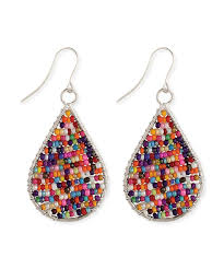 zad earrings look what i found on zulily zad rainbow beaded teardrop earrings