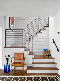 Living Room With Stairs Design with Farmhouse Staircase Ideas Designs U0026 Remodel Photos Houzz