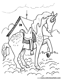spotted horse coloring page create a printout or activity