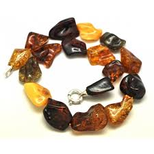 natural amber necklace images Natural shapes multicolor baltic amber necklace 81 27 fine JPG