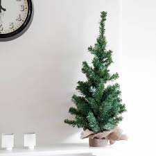 miniature artificial christmas trees christmas lights decoration