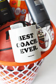 basketball gift basket the best diy basketball coach themed gift basket they will