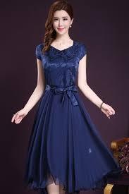 silk dresses jhonpeter women silk printed top bow waist special occasion dress