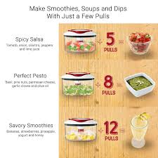 amazon com zyliss easy pull food chopper and manual food