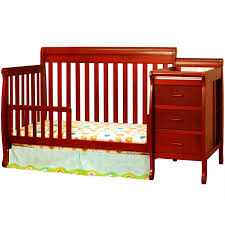 Oak Convertible Crib by Nursery Decors U0026 Furnitures Oak Convertible Crib With Changing