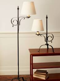 Quality Floor Lamps Wrought Iron Lamp With Adjustable Harp