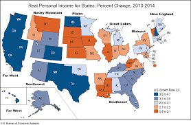 which state has the lowest cost of living bea news release real personal income for states and