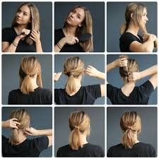ponytail on short hair tutorials u2014 kalisi skandinavia lob how
