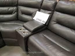 kuka leather reclining sectional