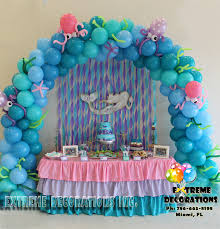 party supplies miami mermaid the sea balloon arch cake table decoration