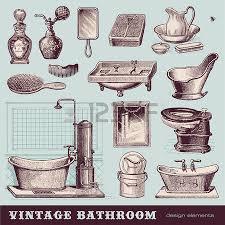 Vintage Bathroom Accessories 3 631 Bathroom Accessories Stock Vector Illustration And Royalty