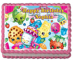 edible images for cakes shopkins birthday party premium edible cake