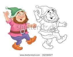 snow white dwarfs cartoon stock images royalty free