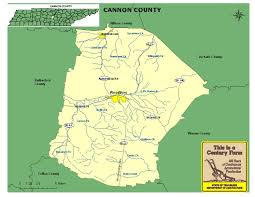 Tennessee Map Of Counties by Cannon County Tennessee Century Farms