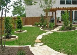 decor small backyard landscape ideas using pretty garden and wood