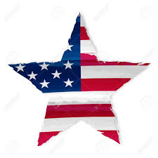 Usa Stars Flag Star In Drawing American Flag Isolated Usa Independence Stock