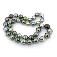 color pearl necklace images Multi color baroque tahitian pearl necklace pearls colored stones jpg