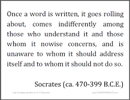 printable history quotes socrates once a word is printable quote student handouts
