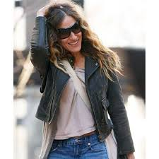 womens motorcycle jacket sarah jessica parker jacket distressed leather motorcycle jacket