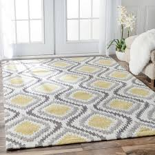 White Modern Rug Yellow And White Area Rug Visionexchange Co