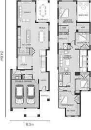 big floor plans narrow but large 2 storey home with 5 bedrooms plus a study and 3
