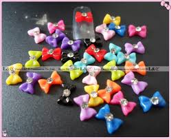 summer color 108pcs lot 12 colors beauty candy 3d bow nail art