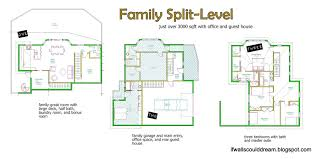 split house plans if walls could family split level