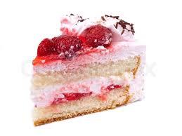 Piece Of Cake Isolated On White Background Stock Photo Colourbox